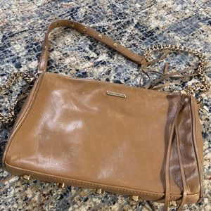 Rebecca Minkoff 5 Zip Crossbody Tan Bag